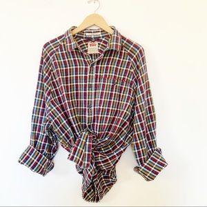 Levi's Plaid Flannel  Long Sleeve Button Up Shirt